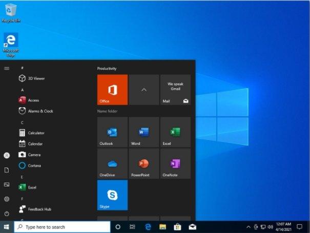 Windows 10 Pro April 2021